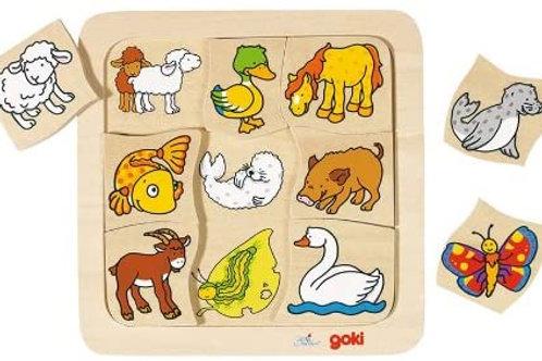 Goki Puzzle Who Belongs To Who?