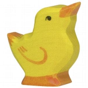 Holztiger Chick, Head Raised