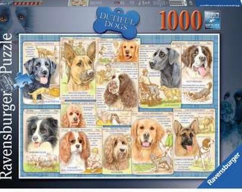 Ravensburger Dutiful Dogs 1000pc Jigsaw Puzzle