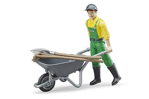 Bruder Figure Set - Farmer With Accessories