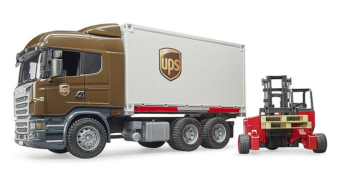 Bruder Scania R-Series UPS Logistics Truck
