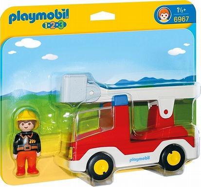 Playmobil 1.2.3 6967  Ladder Unit Fire Truck