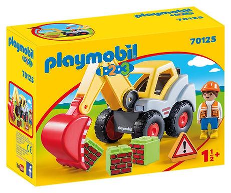 Playmobil 1.2.3 70125  Shovel Excavator