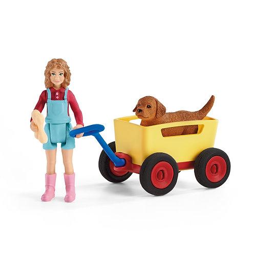 Schleich Puppy Wagon Ride