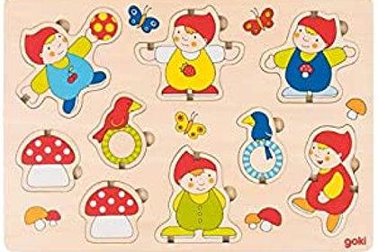 Goki Stand-Up Puzzle  Dwarfs