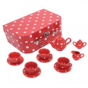 BigJigs Red Polka Dot Tea Set