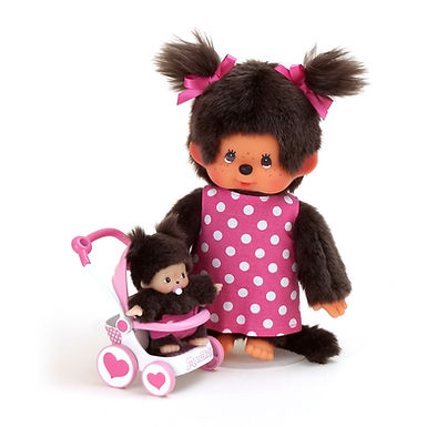 MONCHHICHI Mother with Baby & Stroller