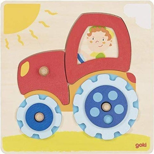 Goki Tractor, Lift-Out Puzzle