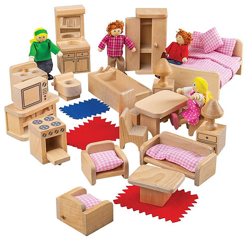 BigJigs Doll Family and Furniture
