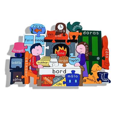At Home Jigsaw as Gaeilge - Alphabet Jigsaw