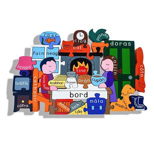 Alphabet Jigsaws At Home Jigsaw as Gaeilge