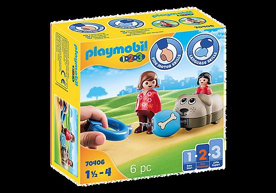 Playmobil 1.2.3 70406  Dog Train Car