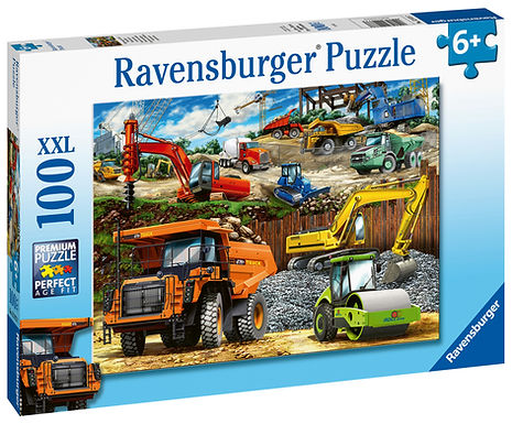 Ravensburger Construction Vehicles XXL 100pc Jigsaw Puzzle