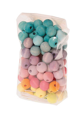 Grimms 120 Small Pastel Wooden Beads