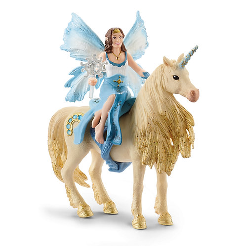 Schleich Eyela Riding On Golden Unicorn