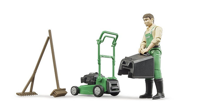 Bruder Bworld Gardener W/Mower & Equipment