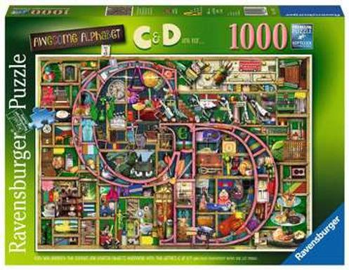 "Ravensburger Colin Thompson - Awesome Alphabet ""C & D"", 1000pc Jigsaw Puzzle"