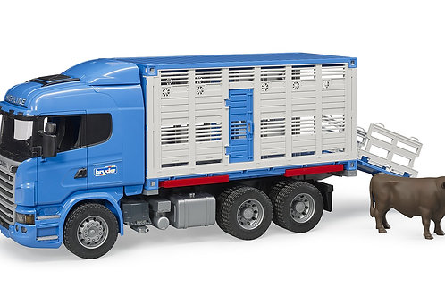Bruder Scania R-Series Cattle Transport Truck With 1 cow