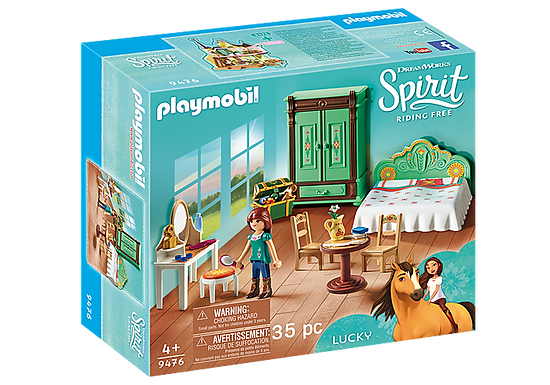 Playmobil DreamWorks Spirit 9476 Lucky's Bedroom