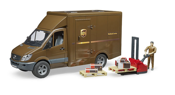 Bruder MB Sprinter UPS With Driver & Accessories