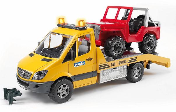 Bruder MB Sprinter Transporter W/Cross-Country Vehicle