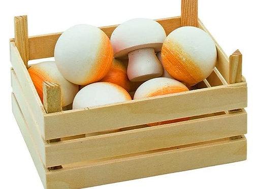 Goki Mushrooms In Vegetable Crate Toy