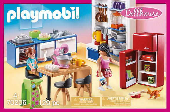 Playmobil 70206 Dollhouse Family Kitchen