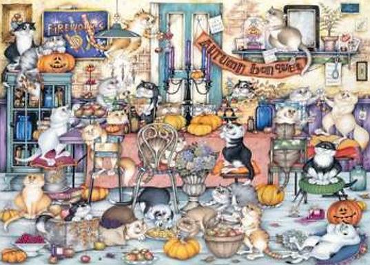 Ravensburger Crazy Cats - Autumn Banquet 1000pc Jigsaw Puzzle