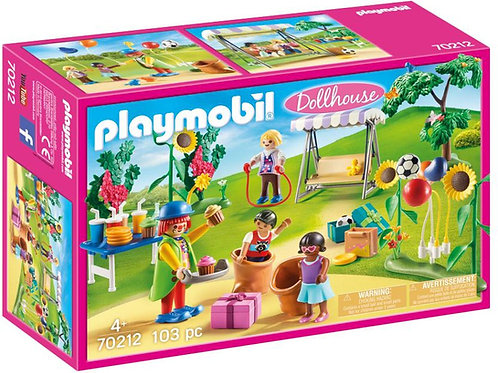 Playmobil 70212 Dollhouse Children's Garden Birthday Party