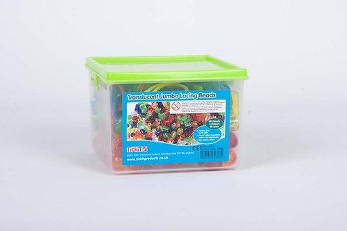 TickiT Translucent Jumbo Lacing Beads
