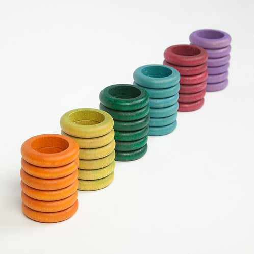 Grapat 36 X Rings (6 Non Basic Colours)