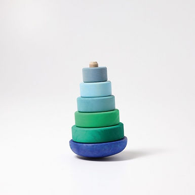 Grimms Blue Wobbly Stacking Tower