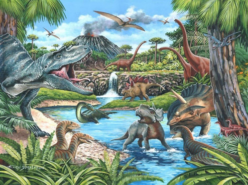 The House of Puzzles - DINOSAURS - Big 500 piece Jigsaw