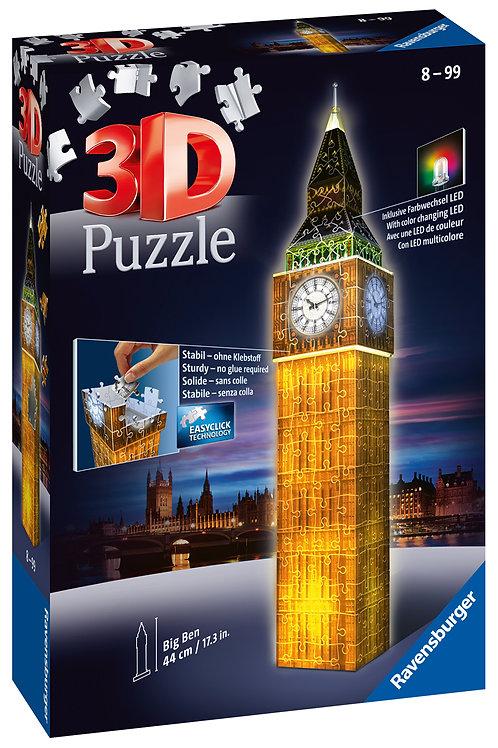 Ravensburger Big Ben Night Edition 3D Puzzle, 216pc  Jigsaw Puzzle