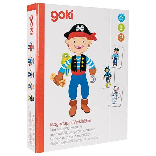 Goki Dress-Up Magnet Game, Boy