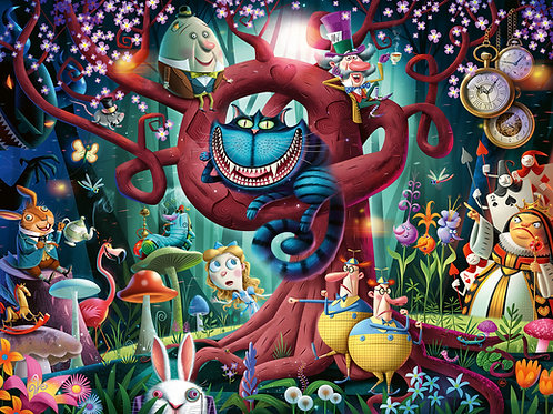Ravensburger Almost Everyone is Mad (Alice in Wonderland) 1000pc Jigsaw Puzzle