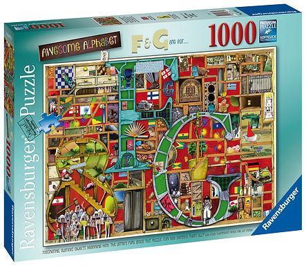 "Ravensburger Colin Thompson - Awesome Alphabet ""F & G"", 1000pc Jigsaw Puzzle"