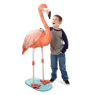 Melissa & Doug Lifelike Plush Flamingo