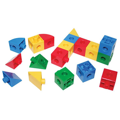 BigJigs Super Snap Together Cubes Triangles and Sectors