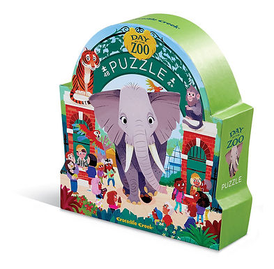 Crocodile Creek Day at the Museum - Zoo 48 - piece puzzle