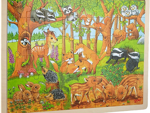 Goki Puzzle Baby Animals In The Forest