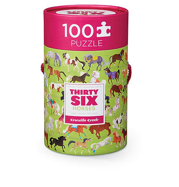 Crocodile Creek Horse 100 Piece Jigsaw Puzzle in Canister
