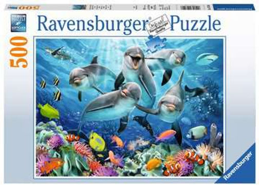 Ravensburger Dolphins, 500pc Jigsaw Puzzle