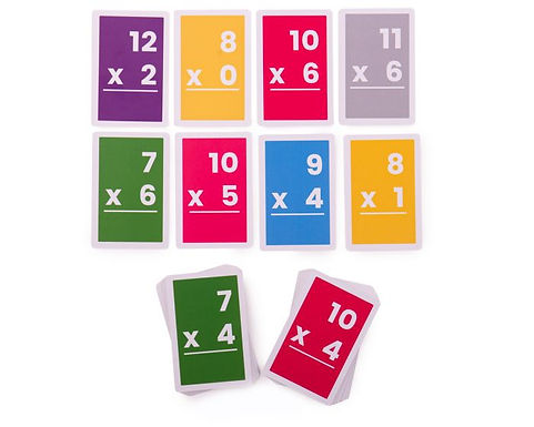 BigJigs Flashcards - Multiplications 7-12 (10 Sets)