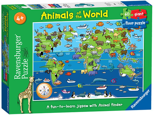 Ravensburger Animals of the World Giant Floor Puzzle, 60pc Jigsaw Puzzle