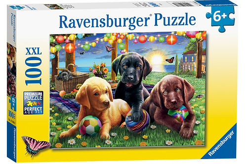 Ravensburger Puppy Picnic XXL 100pc Jigsaw Puzzle