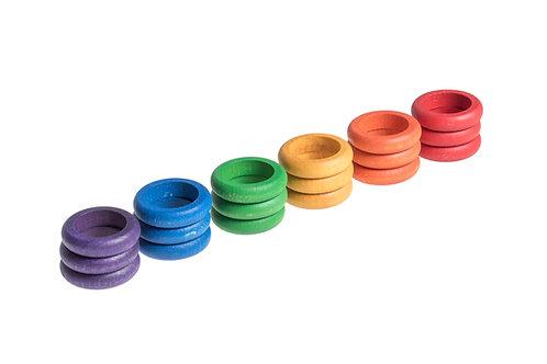Grapat 18 X Rings (6 Colors)
