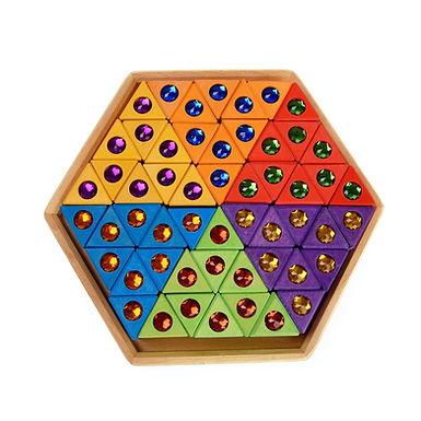 Bauspiel Coloured Triangles 54 Colourful pcs