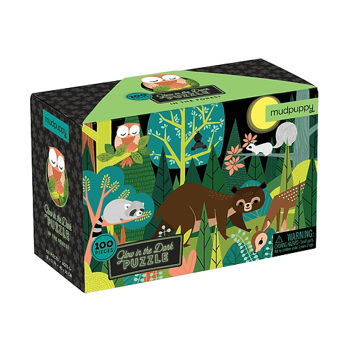 Mudpuppy's In the Forest Glow in the Dark Puzzle