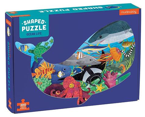 Mudpuppy's Ocean Life 300 Piece Shaped Scene Puzzle